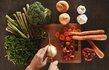 sebze dograma kesme tahtasi sogan brokoli biber havuc 2