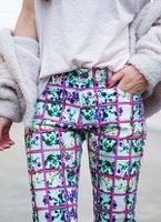 desenli pantolon printed trousers jean street style