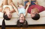 aile oyun anne baba cocuk kiz eglence mutlu