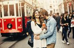 cift iliski mutlu istanbul beyoglu tramvay