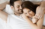 kadin erkek yatak mutlu