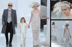 Cara Delevingne Karl Lagerfeld Chanel 2014 Yaz Couture defilesi gelinlik