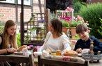 anne cocuklar kahvalti mutluluk aile