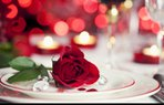 sevgililer gunu 14 subat romantik yemek masa