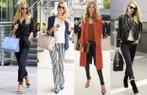 rosie huntington whiteley sokak stili kirmizi hali moda unlu