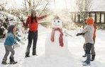 cocuk kar etkinlik kis eglence kardanadam