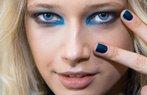 karen walker mavi renkli makyaj
