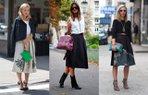 moda sokak stili klos etek