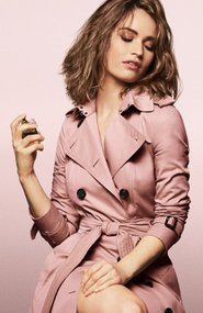 lily james my burberry blush behind scenes25402