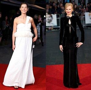 londra film festivali kirmizi hali elbise
