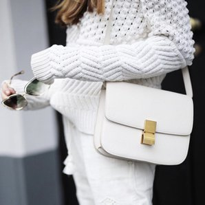 moda stil pudra beyaz