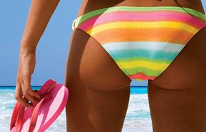 yaz gunes deniz kumsal bikini popo terlik