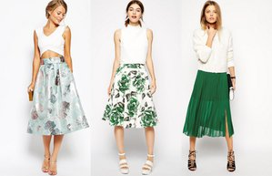 midi etek 2015 yaz modasi trend midi etek kombinleme