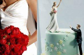 gelin damat evlilik pasta