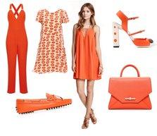 2015 yaz en moda renk turuncu kolaj