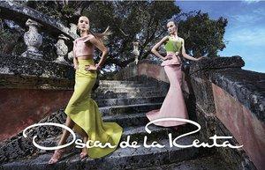 oscar de la renta ilkbahar yaz 2015 sezon kampanya moda abiye gece elbisesi