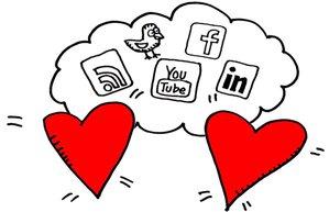 sosyal medya ask iliski