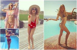 unlulerin bikini tercihleri hollywood yildizlerinin yaz 2015 mayo deniz sahil havuz plaj