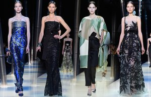giorgio armani prive haute couture 2015 ilkbahar yaz koleksiyon fashion week paris