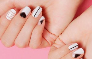 minimalist nail art sanati ornekleri