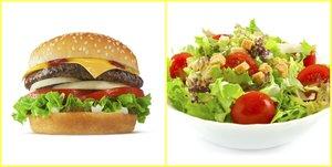 salata hamburger kolaj