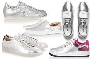 gumus renk spor ayakkabi moda trend must have stil
