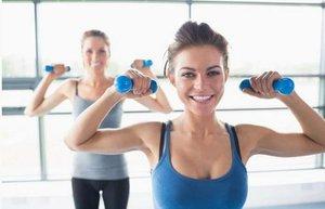 kadin kasli kol egzersiz