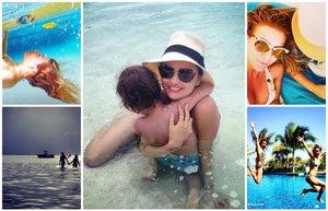unluler plajda plaj sahil yaz 2014 bikini gunes deniz tatil