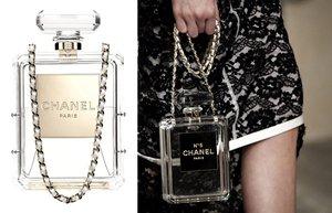 moda aksesuar chanel no 5 parfum sisesi clutch canta