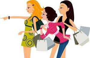 shopping vector woman2 alisveris