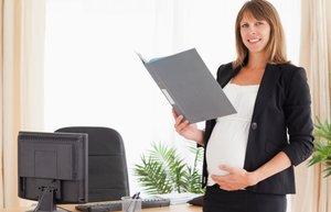hamile calisan kadin