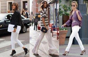 beyaz pantolon kombin moda yaz stil
