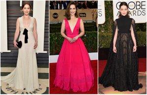 emilia clarke kirmizi hali stili davet elbiseleri