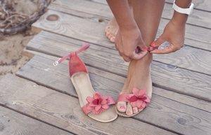 kadin ayakkabi ayak sandalet yaz kumsal
