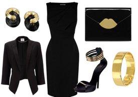 siyah stil moda is ofis 2013