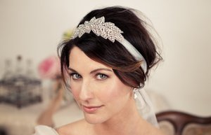 wedding hair accessories handmade bridal headband crystal embellished original