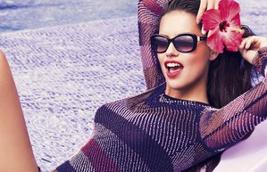 vogue eyewear adriana lima ss15 ilkbahar yaz kampanya