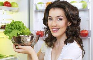 buzdolabi mutfak sebze marul saglikli beslenme