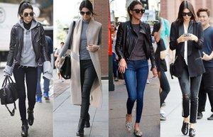 kendall jenner street style sokak stili skinny jean