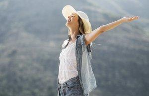 mutluluk mutlu pozitif kadin
