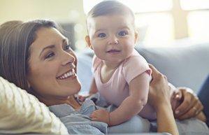 anne bebek mutlu