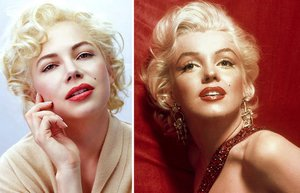 unluler ve canlandirdiklari tarihi karakterler sinema michelle williams marilyn monroe my week m