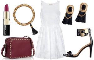 beyaz elbise 3 farkli kombin stil moda gece