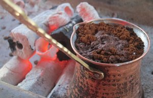 turk kahvesi odun atesinde turk kahvesi