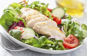 tavuk salata diyet yemek