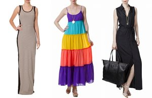 uzun elbise moda yaz 2013
