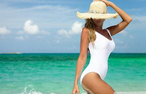 yaz gunes deniz sahil mayo sapka bronz