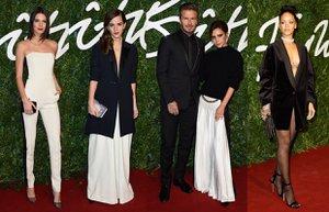 british fashion awards kirmizi hali unlu gece elbisesi