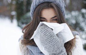 kis grip hastalik soguk eldiven kadin
