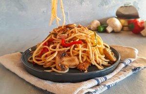 ton balikli mantarli spagetti tarifi